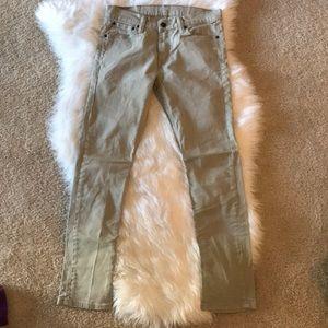 Men's khaki Levi's 510 super skinny jeans